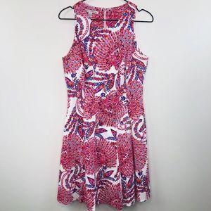 Maggy London 8 Floral Midi Dress
